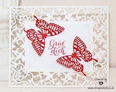 stempel einfach: Schmetterlingsgruß...