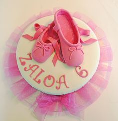 Ballet shoes cake step by step, including pattern for the shoes!