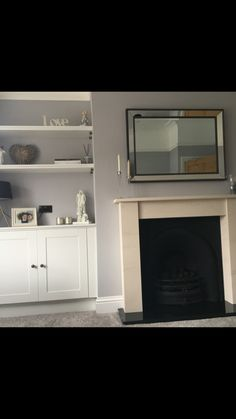 Victorian Terrace House, Grey Fireplace, Home Living Room, Home Decor, Living Room, Decoration Home, Room Decor, Home Interior Design, Home Decoration