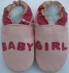 Chaussons souples Carozoo Baby Girl rose