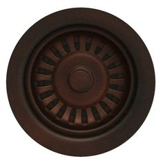 Whitehaus Collection 3.5 in. Basket Strainer in Mahogany Bronze-RNW35L-MABRZ - The Home Depot
