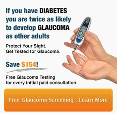 SO, YOU HAVE DIABETES. WHAT DOES THAT MEAN FOR YOU? Glaucoma is the leading cause of irreversible blindness in the world. People with diabetes have a higher risk of getting this blinding disease . Unfortunately, glaucoma is a silent disease. There are no symptoms until it's too late. And there is NO CURE. When the damage is done, it's permanent.