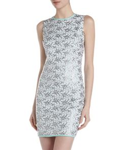 Floral-Embroidered Sheath Dress by Donna Morgan at Last Call by Neiman Marcus.