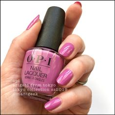 """""""arigato from Tokyo"""" - opi Tokyo collection 2019 Opi Nail Colors, Spring Nail Colors, Spring Nails, Summer Nails, Nail Colour, Cute Nails, Pretty Nails, Opi Nails, Manicures"""
