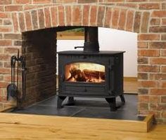 Excellent Snap Shots Brick Fireplace mirror Concepts Terrific Photos Brick Fireplace log burner Suggestions It sometimes gives in order to skip this tra Brick Fireplace, Brick Fireplace Log Burner, Fireplace Logs, Stove, Fireplace, Fireplace Seating, Wood Burning Fireplace Inserts