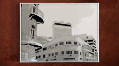 גרוזנברג פינת נחלת בנימין - מבט אל מגדל שלום