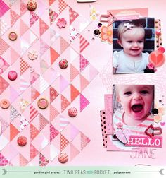 Scrap Your Stash: Hello Jane - Pink by @paigetaylorevans