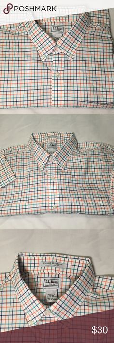 Multi-colored L.L. Bean Button Down Wrinkle resistant traditional fit button dress shirt by L.L. Bean in like new condition!  Size XL - REG.            All products* sold by super22saver55 are pre-washed using Tide Pods, Downy Unstoppables, and Oxygen Orange for your convenience.  *Not including NWT products, products made of wool or sports wear.  *Sports wear products are washed with detergent and vinegar or baking soda. L.L. Bean Shirts Dress Shirts