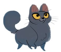 Daily Cat Drawings — 286: Chartreux Sketch