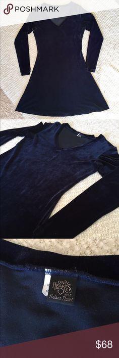 Only Hearts by Helena Stuart Velvet Skater Dress EUC One Heart by Helena Stuart Dresses Long Sleeve