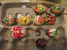 Hand Decorated Hungarian Easter Egg by TULIPanFolkArt on Etsy