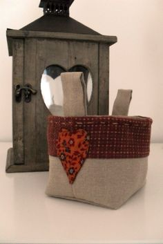 Simple fabric basket as Christmas gifts