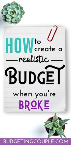 Find out how to make a budget you can stick to (when you're broke) with these budgeting tips perfect for budgeting beginners! When you find out how to budget, you will start saving money on autopilot, live frugally, and live the life of your dreams! Budget App, Planning Budget, Budget Spreadsheet, Money Budget, Budgeting Finances, Budgeting Tips, Budgeting Process, Making A Budget, Making Ideas