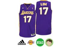Kids  Jeremy Lin  17 Purple Swingman Road Jersey. Blue Basketball Shoes ... 7fea867d7