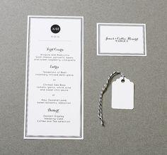 Wedding Menu Modern Elegant by CraftyPiePress on Etsy, $2.00