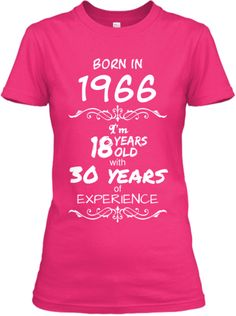 """""""Born in 1966"""" Tees - Limited Edition"""