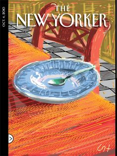 "David Hockney : ""The Breakfast Plate"", Cover art for The New Yorker, October 4, 2010"