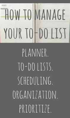 How to Manage Your To-Do List