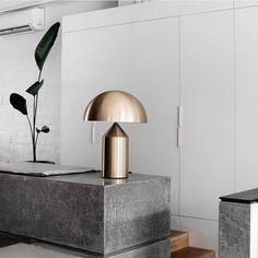 The Atollo Lamp designed in 1977 by Vico Magistretti * Shock of the Lighting * The Inner Interiorista Metal Table Lamps, Lamp Design, Lamp, Furniture Decor, Interior Inspiration, Contemporary Interior, Interior Design, Home Decor, Atollo Lamp