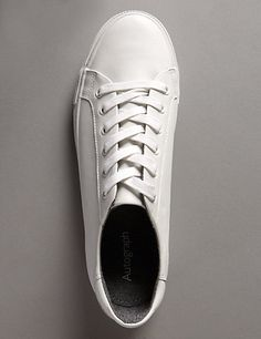 Leather Lace Up Trainers | M&S