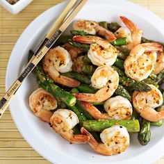 Shrimp and Asapargus Stir Fry