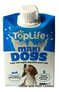 TopLife Milk For Dogs 200ml TopLife Milk for Dogs is a delicious daily treat for your furry friend made from highly digestible goats milk.