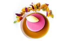 Recipe: Peach Bavarian, Mango Mint Gelato, and Black Tea Consommé – The Art of Plating