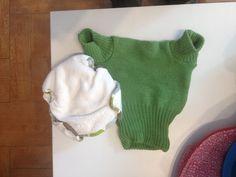 Pañal de lana con absorbente. 15 euros.