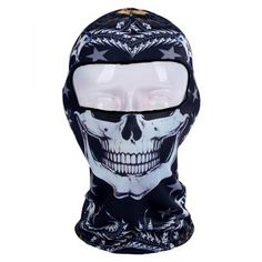 Punk Summer Sun Cycling Balaclava Ultra UV Protection Printed Full Face Mask for sale online Cycling Mask, Cycling Gear, Neoprene Face Mask, Funny Hats, Full Face Mask, Balaclava, Skull Print, Cool Hats, Men Online