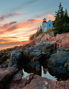 Bass Harbor Sunset byAlex Filatovon 500px