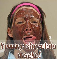 Chocolate Face Masks :below is the procedure for for 4 of the yummiest one's you can think off! Did you know that a chocolate face mask can give you flawless skin? Check out the various benefits of chocolate for your skin and 15 face masks. Homemade Blush, Face Scrub Homemade, Homemade Face Masks, Homemade Beauty, Face Masks For Kids, Easy Face Masks, Diy Face Mask, Chocolate Facial, Chocolate Face Mask