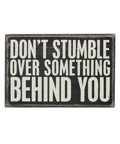 'Don't Stumble' Box Sign