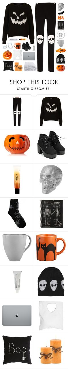 """trick or treat till the neighbors gonna die of freight ☆"" by scattered-parts ❤ liked on Polyvore featuring Topshop, philosophy, Lenox, Crate and Barrel, Korres, Evil Twin, Jennifer Haley, Pier 1 Imports and Soft-Tex"