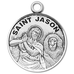 Sterling Silver Round Shaped St. Jason Medal by HMH | Catholic Shopping .com