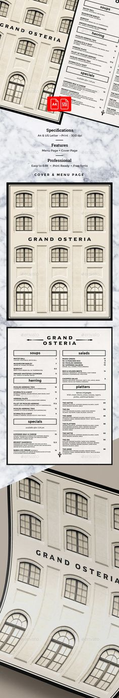 Elegant Menu — Photoshop PSD #elegant #cafe • Download ➝ https://graphicriver.net/item/elegant-menu/20099138?ref=pxcr