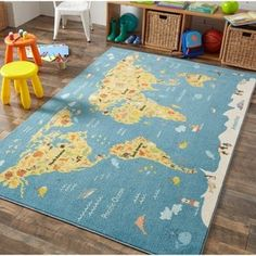 Shop Mohawk Home Prismatic Animal Map Area Rug - x - On Sale - Overstock - 22731722 Outdoor Area Rugs, Indoor Outdoor, Map Rug, Kids Area Rugs, Polyester Rugs, Mohawk Home, Cute Cartoon Animals, Online Home Decor Stores, Cool Rugs