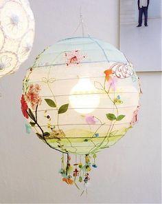 Personalize a paper lantern