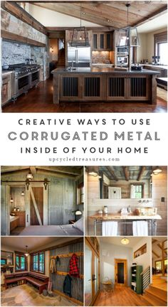 If you're a fan of rustic industrial decor then you need to check out these creative ways to use corrugated metal in Interior Design. UpcycledTreasures.com