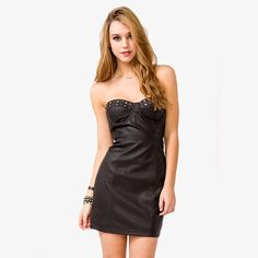 Forever 21 Studded Faux Leather Dress
