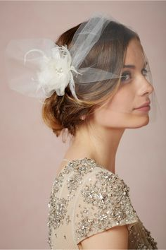With a striking tulle bloom, Weddings Weddings' Dahlia Blusher is a contemporary take on a bridal fascinator. Headpiece Wedding, Wedding Veils, Bridal Headpieces, Bridal Fascinator, Fascinators, Wedding Ceremony, Wedding Dresses, Romantic Wedding Hair, Wedding Hair And Makeup