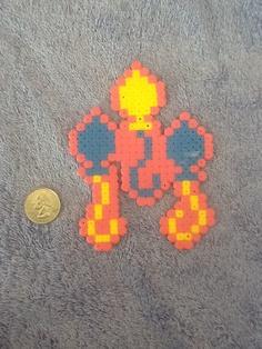 Pinkie Pie Perler Bead Cutie Mark by RandomActsofGeekness on Etsy, $4.50