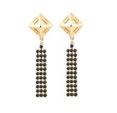Sophie Blake -  Kiya Jet earrings