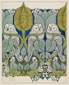 C.F.A. Voysey, The Owl, c.1897 (via).
