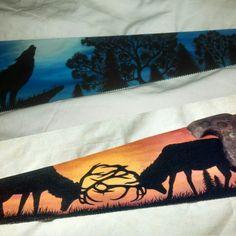 Painted wildlife silhouette handsaws