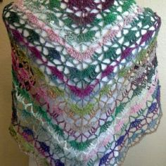 Crochet Shawl Multicolor Rainbow Magenta Green by HRHHandmadeStyle | Mad Mad Makers | https://www.etsy.com/listing/187612263/crochet-shawl-multicolor-rainbow-magenta?ref=shop_home_active_4