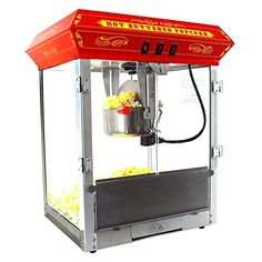 FunTime 8oz Red Bar Table Top Popcorn Popper Maker Machine  FT825CR *** Visit the image link more details.  This link participates in Amazon Service LLC Associates Program, a program designed to let participant earn advertising fees by advertising and linking to Amazon.com.