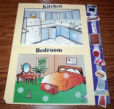 Kitchen and Bedroom Sorting - Love this. Could be a pre-requisite to an Intraverbal program