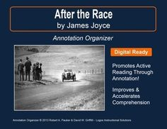 """➡ UPDATED WITH NEW ADDED FEATURES ⚡  """"After the Race"""" by James Joyce is part of our Short Story Annotation Series designed to improve annotation skills, bolster reading comprehension, and cultivate literary appreciation."""