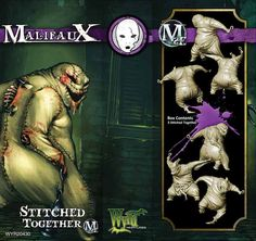 Stitched Togethers contains 3 models, designed for used as Neverborn Faction in the tabletop game of Malifaux.