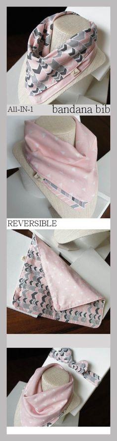 NO MORE Unstylish bibs!! All-IN-1 Baby toddler REVERSIBLE bandana bib-scarf-drool bib/burp cloth /wipe cloth/hand towel/zigzag/cross/Apple Cyan/gray